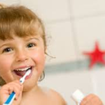 children ages 2-5 brushing